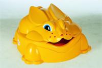 Pískoviště králík žluté s víkem
