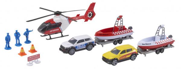 Teamsterz záchranný tým s helikoptérou