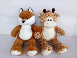 Zvířata plyšová (žirafa, liška) 80cm
