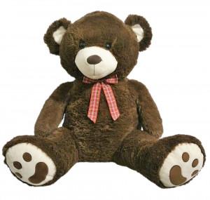 Plyšový medvídek tmavě hnědý 70 cm