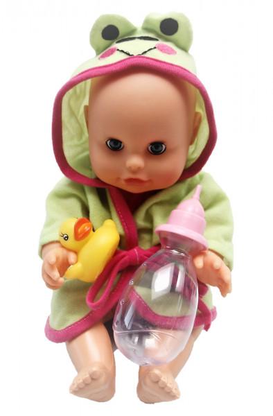 Panenka Bambolina s kachničkou a kojeneckou lahvičkou 33 cm