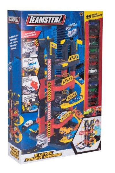 Teamsterz 5 patrová garáž s 15 autíčky