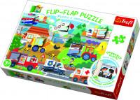 Puzzle 36 dílků Flip-flap Auta