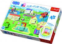 Puzzle 36 dílků Flip-flap Prasátko Pepa