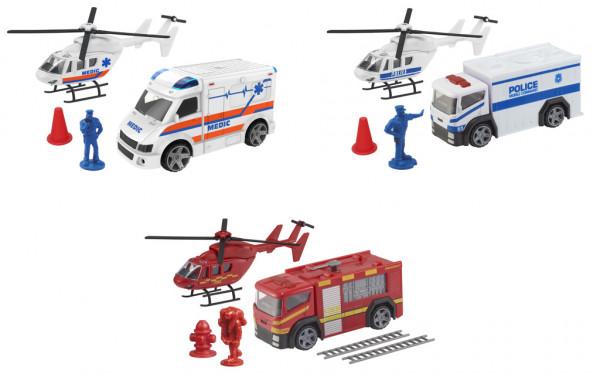 Teamsterz záchranářské auto + helikoptéra