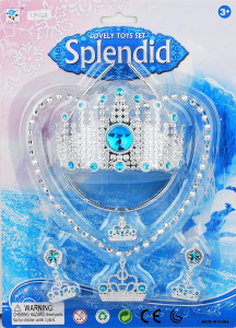 Šperky sada na kartě pro princeznu