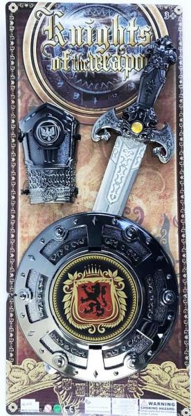 Sada meč a štít a ruka
