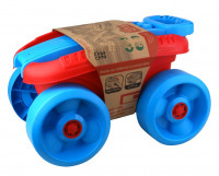 Vozík s kostkami velký 32 ks