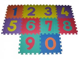 Pěnové puzzle čísla 9 ks