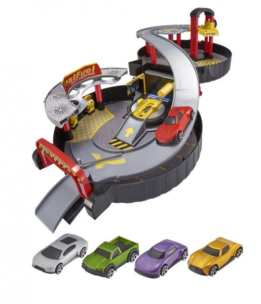 Teamsterz garáž v pneumatice s autíčkem