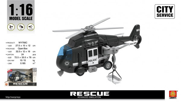 Helikoptéra policice 1:16