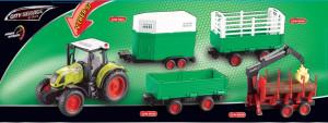 Traktor s přívěsem 1:16