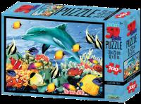 Puzzle 3D 100 dílků zvířátka, Afrika a podvodní svět