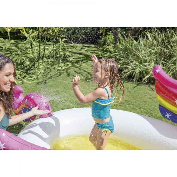 Bazén nafukovací dětský Intex 57441 Jednorožec 272x193x104 cm