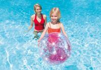 Nafukovací plážový míč INTEX 58070 Glitter Transp. 71 cm