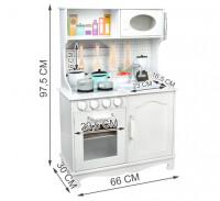 Malatec XL Dětská dřevěná kuchyňka KD4581 bílá
