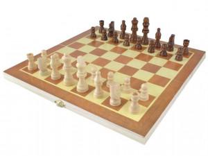 Šachy dřevěné 34x34 cm