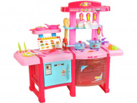 Dětská plastová kuchyňka s doplňky barevná