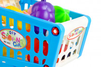 Dětský nákupní košík + ovoce a zelenina