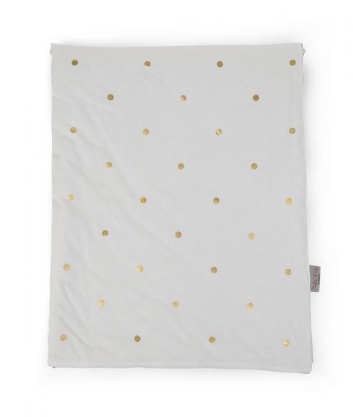 Přikrývka 80x100cm Jersey Gold Dots