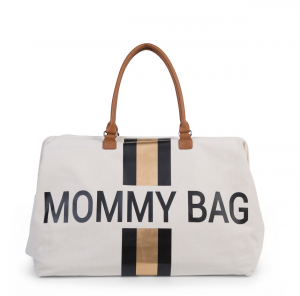 Přebalovací taška Mommy Bag Big Off White / Black Gold