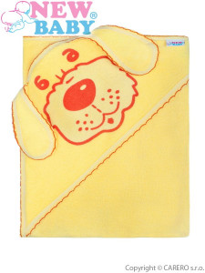 Dětská froté osuška pejsek 100x100 žlutá