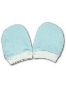Rukavičky pro novorozence tyrkysové