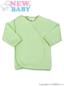 Kojenecká košilka proužkovaná New Baby zelená