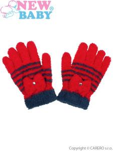 Dětské froté rukavičky New Baby červené