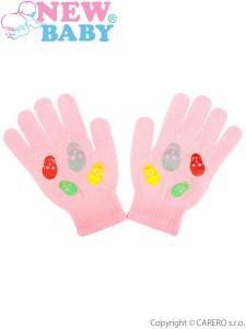 Dětské zimní rukavičky New Baby Girl světle růžové