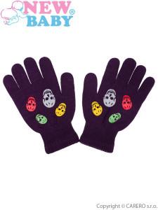 Dětské zimní rukavičky New Baby Girl fialové
