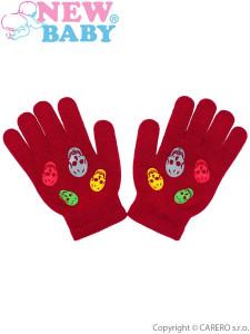 Dětské zimní rukavičky New Baby Girl červené