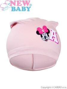 Podzimní dětská čepička New Baby Minnie starorůžová