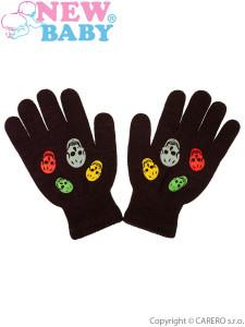 Dětské zimní rukavičky New Baby Girl hnědé