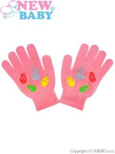 Dětské zimní rukavičky New Baby Girl malinové