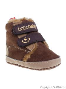 Dětské zimní capáčky Bobo Baby 3-6m tmavě hnědé
