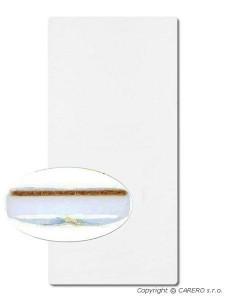 Matrace do kolébky molitan-kokos 80x40 cm - bílá