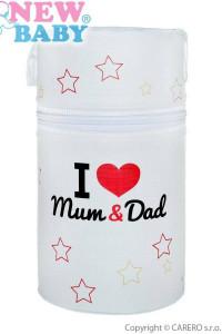 Termoobal Mini New Baby I love Mum and Dad bílý