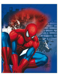 Dětská oboustranná auto deka Spiderman 120x150 cm