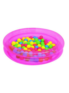 Dětský nafukovací bazén Bestway s míčky růžový
