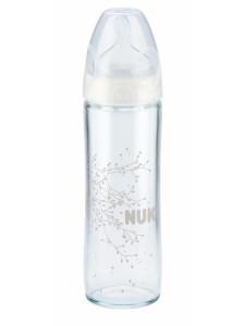 Skleněná kojenecká láhev NUK New Classic 240 ml