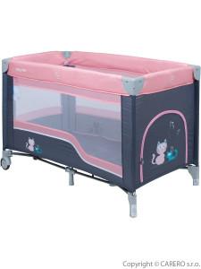 Dětská cestovní postýlka Baby Mix pink