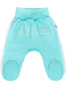Kojenecké bavlněné polodupačky New Baby Angel modré