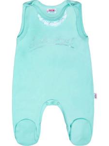 Kojenecké bavlněné dupačky New Baby Angel modré