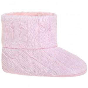 Dětské zimní capáčky Bobo Baby 6-12m růžový úplet