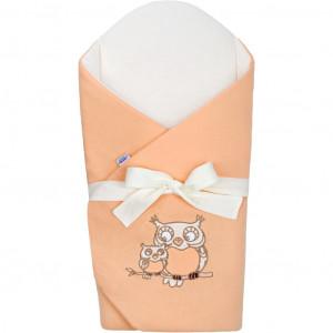 Zavinovačka s mašlí a výztuží New Baby Sovičky oranžová