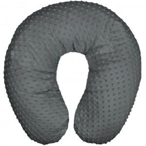 Univerzální kojící polštář z Minky Womar šedý tmavý