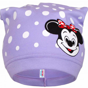 Jarní dětská čepička New Baby myška fialová
