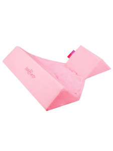 Semišková trojhranná opěrka Womar růžová