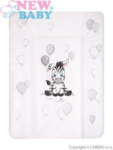 Přebalovací podložka měkká New Baby Zebra bílá 70x50